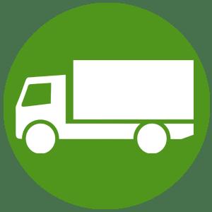 icono transporte y colocación
