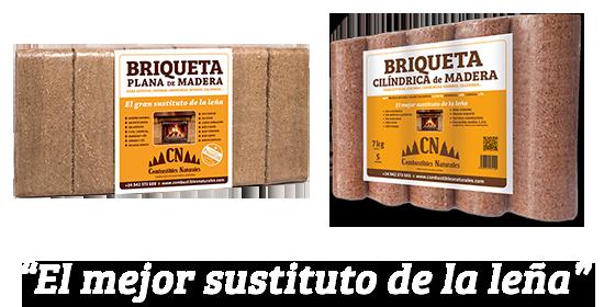 Briquetas de madera online - Combustibles Naturales SL